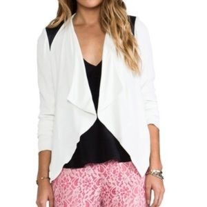 BB Dakota NWT Margo Moto jacket in black/white